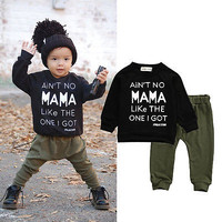 Newborn Toddler Infant Kid Baby Boy Clothes T-shirt Tee +Pants Outfits Set Children Autumn Winter Clothes Set0-3Y