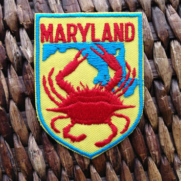 Maryland Vintage Travel Patch by Voyager