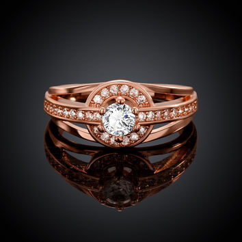 One Love Rose Gold Plated Ring