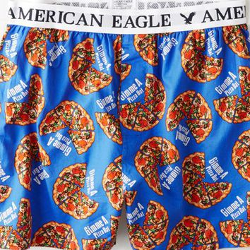AEO Men's Pizza Boxer (Cobalt Blue)