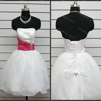 Cocktail dress Younger prom dresses with beads Ruffle organza homecoming dress gratuation