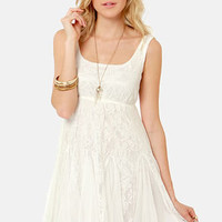 Chills and Frills Ivory Lace Dress