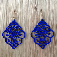 Damsel In Distress Earrings - Royal Blue