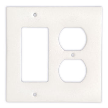 Thassos White Marble Rocker Duplex Switch Wall Plate / Switch Plate / Cover - Honed