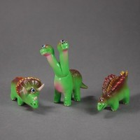 Dino Set One Off - 192 by Rampage Toys - $70.00 : Toy Art Gallery, Rare, Limited, One-of-a-Kind Art Toys & Sculptures