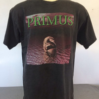 PRIMUS Shirt 1995 Vintage/ 90s TALES From The PUNCHBOWL Album Promo Tshirt/ Les Claypool Rock Tee Black X-Large