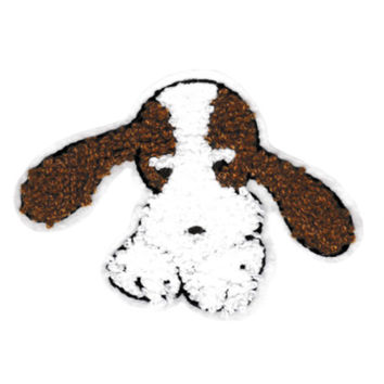 Large Cute Chenille Beagle Bloodhound Dog Patch 11.5cm