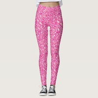 Pink abstract pattern leggings