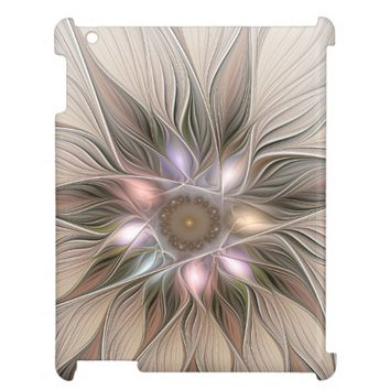 Joyful Flower Abstract Floral Fractal Art Cover For The iPad