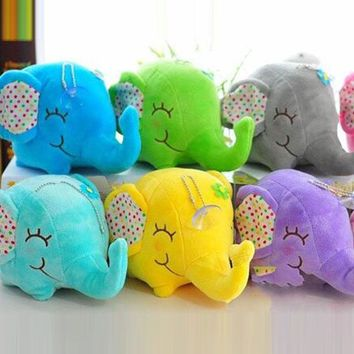 Super Kawaii Elephant Stuffed Toys 12CM Approx Doll Plush Stuffed Toy Animal Doll Sucker Car & Room & Window Pendant Bouquet