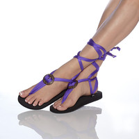 Interchangeable sandals with extra pair black  strap by Styleget