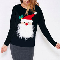 Casual Christmas The Elderly Pattern Sweater