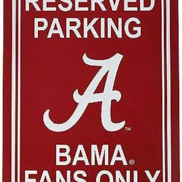 Alabama Crimson Tide RESERVED 12x18 Plastic Wall Parking Sign University of