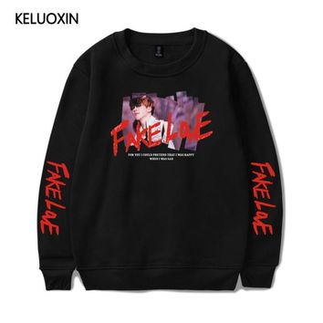 KPOP BTS Bangtan Boys Army KELUOXIN Love Yourself Tear Pullover Hoodies Women Men   FAKE LOVE  Boys Popular Streetwear Sweatshirt Moletom AT_89_10
