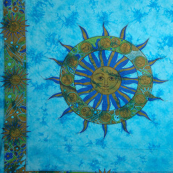 Sun Tapestry, Sun Tapestries ,Sun Tapestry Wall Hanging, Hippie Tapestry, Cotton Bed cover, Bed Sheet, Throw, Wall Hanging,Decorative Art