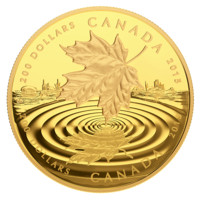 1 oz. Pure Gold Coin - Maple Leaf Reflection - Mintage: 350 (2015)