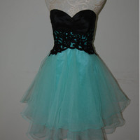 Fantastic Lace Ball Gown Sweetheart Mini Prom Dress/Graduation/Party Dress