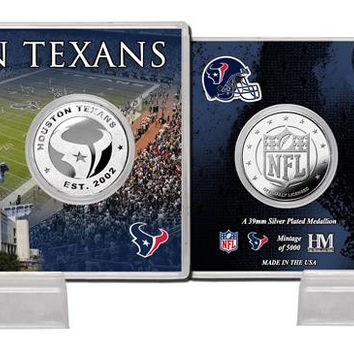 Houston Texans Silver Coin Card - Stadium
