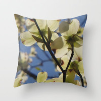 Dogwood Days of Spring Throw Pillow by Shawn Terry King