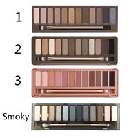 Natural Smoky Makeup 1 2 3 4 5 6 7 8 basic Cosmetics Glitter Eye shadow palette eyeshadow make up Matte palettes Naked Blush