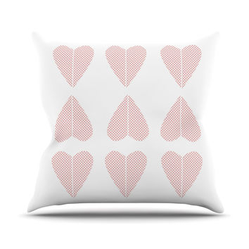 "Belinda Gilles ""Cross My Heart Multiple"" Red Pattern Throw Pillow"