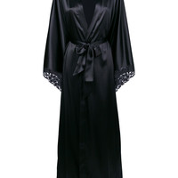 La Perla Satin floor-length Robe - Farfetch