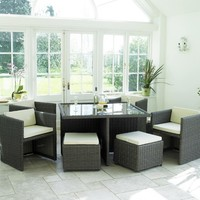 Cube Dining Set | Compact Garden Furniture | Outdoor Dining Furniture