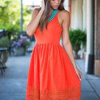 Cut Out In The Sun Dress, Orange