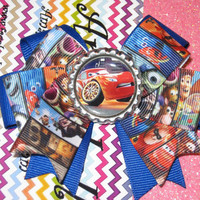 Disney Pixar Cars Lighning Mcqueen inspired hair bow clip