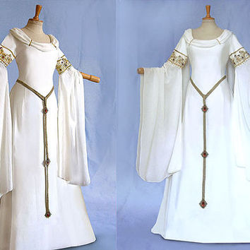 Elf dress AMIDA wedding dress wedding gown of medieval Elf Awen