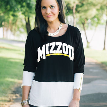 GAMEDAY Colorblock Tunic - MISSOURI