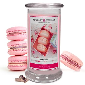 Pink Macaroons Jewelry Candle