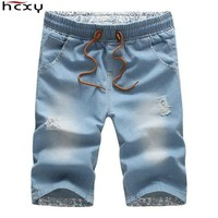 DCCKLW8 2016 Men Shorts Brand Summer New Men Jeans Shorts Plus Size  Fashion Designers Shorts Cotton Jeans Men's Slim Jeans Shorts Men