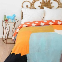 Char-Bea By Ashley G Patches Duvet Cover- Multi Full/queen