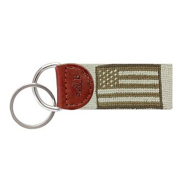 Armed Forces Flag Needlepoint Key Fob by Smathers & Branson