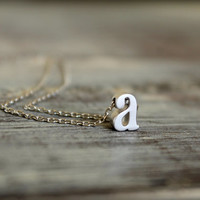 Lowercase Initial Necklace, Available in Silver or Gold