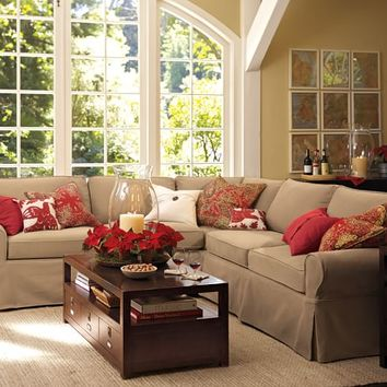 PB Basic Slipcovered 2-Piece L-Shaped Sectional