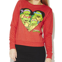 Ninja Turtles Heart Sweatshirt | Wet Seal