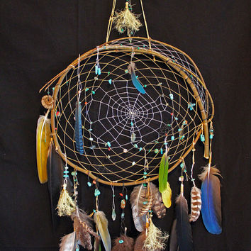 Dream With Color Dream Catcher...  Native American Tribal Gypsy Hippie Beaded