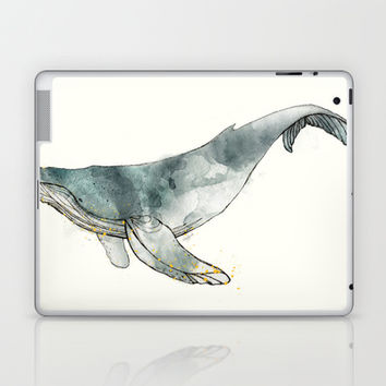 Humpback Whale Laptop & iPad Skin by Amy Hamilton