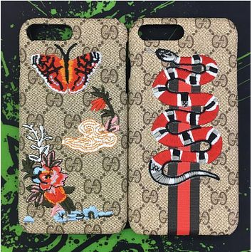 GUCCI : Snake Embroidery New iphone 6 6s 6plus 6s-plus 7 7plus iPhone Phone Cover Case Shell-1
