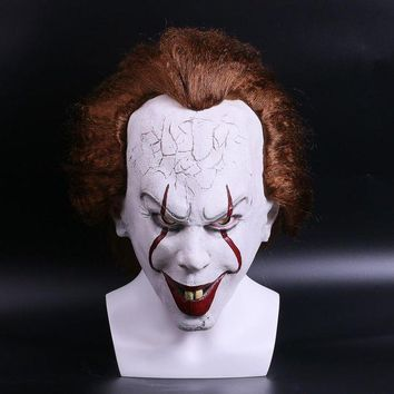 DCCKH6B 2017 Movie Stephen King's Pennywise Clown Joker Mask Tim Curry Horrible Halloween Party Cosplay Masks Mask Clown Latex Mask