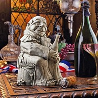SheilaShrubs.com: Dom The Monk, Inventor of the Champagne Statue EU29774 by Design Toscano: Indoor Sculptures & Statues