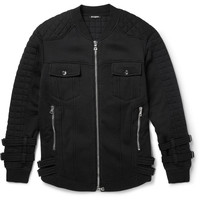 Balmain - Quilted Fleece-Back Cotton-Jersey Jacket | MR PORTER