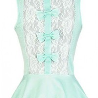 The Mint Bow Top