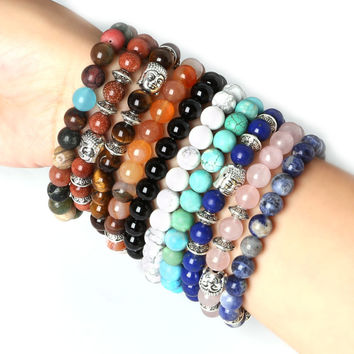 Men's Beaded Buddha Bracelet