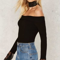 Touch Base Off-the-Shoulder Top