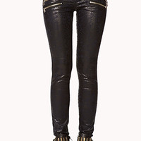 Zippered Moto Pants