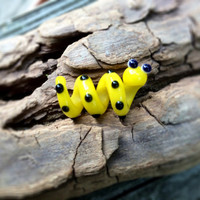 Cute Black and Yellow Dread Bead Snake Dreadlock