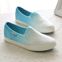 A071021 bb Gradient color canvas shoes to help low7-21
